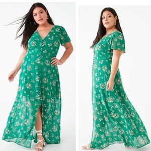 ❌CLEARANCE❌ Green Button Down Floral Maxi Dress